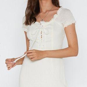Nasty Gal Dresses - Pretty white dress